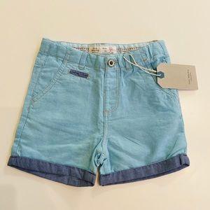 NWT Zara Baby Boy Blue Shorts (2/3)